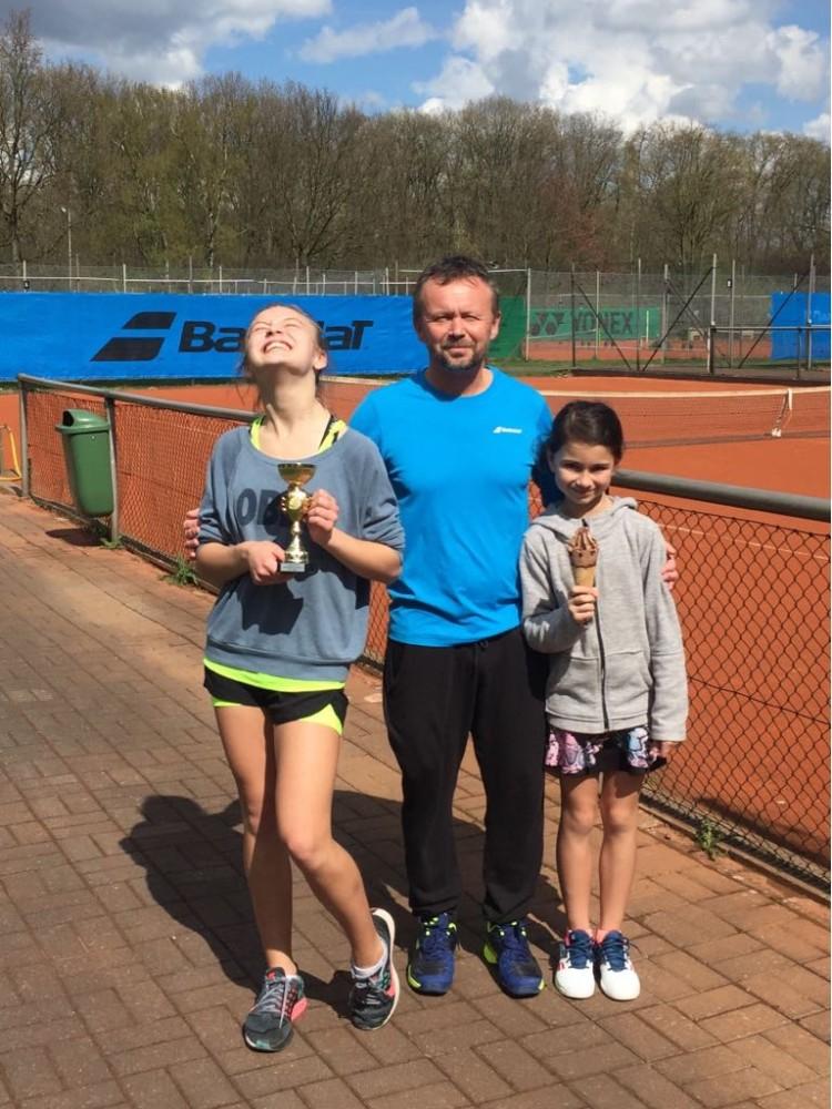 TuS Ickern Cup 2018: Mick Burger, Palina Mannapova, Nastia Schwaibiger