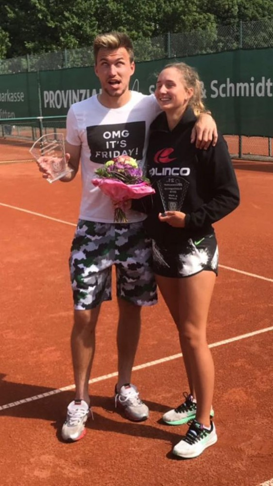 "Svetlana Iansitova and Vadym Ursu Finalist and the Winner of ""Ostermann Frühlingscup bei der Sport-Unnion Annen"""