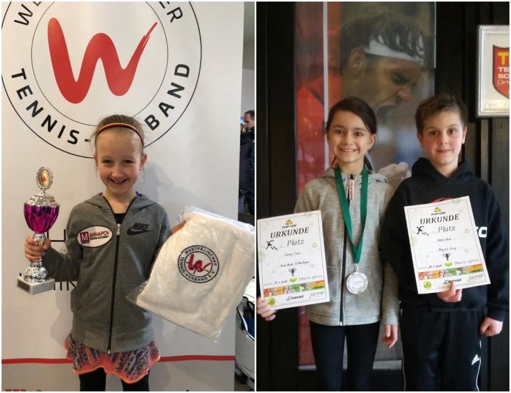 """Lissy Maß gewann den """"WTV Orange Cup"""", der in Waltrop stattfand. Nastia Schwaibiger belegte beim """"Green Cup"""" Turnier in Dorsten den 2. Platz und Miguel Zeng erreichte das Halbfinale des gleichen Turniers!"""